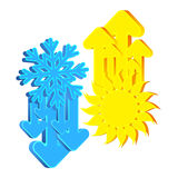 Air conditioning and ventilation abstract symbol Stock Photo