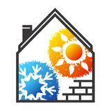 Air conditioning and ventilation. For home symbol Stock Images