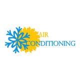 Air conditioning and ventilation symbol Stock Image
