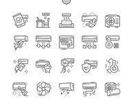 Air Conditioning Well-crafted Pixel Perfect Vector Thin Line Icons 30 2x Grid for Web Graphics and Apps. Simple Minimal Pictogram Stock Images