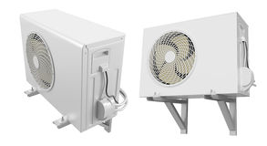 Air Conditioning. On white background. 3D image Stock Photos