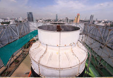 Air coolant on roof of tower. In thailand Royalty Free Stock Photo