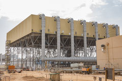 Air cooled condenser. Powe plant air cooled condenser consruction royalty free stock image