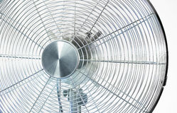 Air cooler chrome Metal fan on a white background Stock Photography
