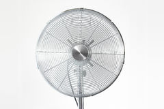 Air cooler chrome Metal fan on a white background Stock Images
