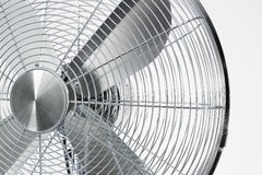 Air cooler chrome Metal fan on a white background Royalty Free Stock Photo
