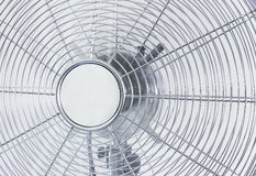 Air cooler chrome Metal fan on a white background Stock Photos