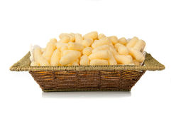 Air corn. Air delicious corn sticks close-up Royalty Free Stock Photo