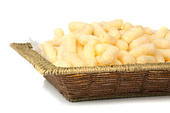 Air corn. Air delicious corn sticks close-up Royalty Free Stock Photography