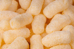 Air corn. Air delicious corn sticks close-up Royalty Free Stock Images