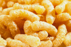 Air corn sticks closeup background Royalty Free Stock Image