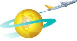 Air craft logo Royalty Free Stock Images