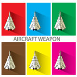 Air craft weapon. Aircraft weapon  in color squarer Stock Photography