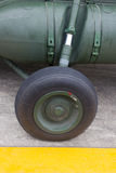Air craft wheel Royalty Free Stock Photography