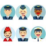 Air Crew Avatars Stock Photo