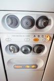 Air d'avion et contrôles légers photographie stock libre de droits