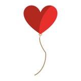 Air de ballon avec le coeur de forme Image stock