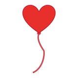 Air de ballon avec le coeur de forme Photo libre de droits