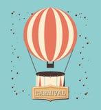 Air de ballon de carnaval chaud illustration de vecteur