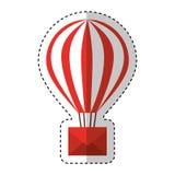 air de ballon chaud avec l'enveloppe Images stock