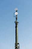 Air defense radars of military mobile anti aircraft systems Stock Photo