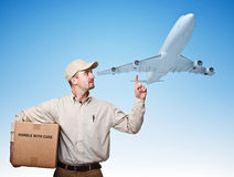 Air delivery Royalty Free Stock Photo
