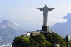 air den brazil cristo de janeiro redentorrio sikten Royaltyfri Foto
