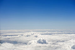 Air desert. Landscape over the clouds. Air desert Stock Images