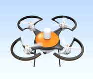 Air drone with camera flying in the sky Stock Photo