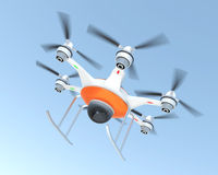 Air drone security system demonstration Stock Photos