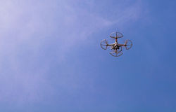 Air drone surveillance camera Stock Photos