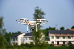 Air drone surveillance camera Royalty Free Stock Images