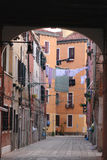 Air-drying of clothes in Venecia Stock Photo