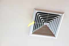 Air duct ceiling. The vents on the ceiling of the building Royalty Free Stock Image