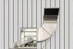 Air duct. And HVAC system of factory Royalty Free Stock Images