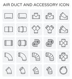 Air duct icon. Air duct and sccessory icon set Royalty Free Stock Images