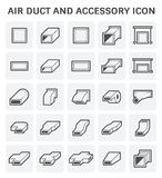 Air Duct Icon. Vector icon of air duct and accessory for air conditioning or HVAC system Royalty Free Stock Image