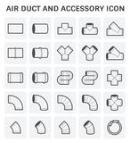 Air Duct Icon. Vector icon of air duct and accessory for air conditioning or HVAC system Royalty Free Stock Photo