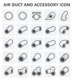 Air Duct Icon. Vector icon of air duct and accessory for air conditioning or HVAC system Royalty Free Stock Photos