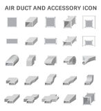 Air Duct Icon. Vector icon of air duct and accessory for air conditioning or HVAC system Royalty Free Stock Images