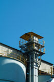 Air duct and inspection platform Stock Photo
