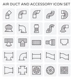 Air duct icon. Air duct and sccessory icon set Royalty Free Stock Photo