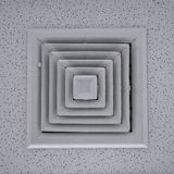 Air duct. In square shape stock photography