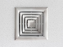 Air duct. In square shape on Cellulose ceiling Stock Photography