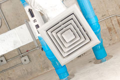 Air duct in square shape Royalty Free Stock Photo