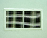 Air duct square shapes. Are designed to be installed on the wall royalty free stock image