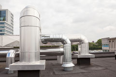 Air ducts on the roof Royalty Free Stock Image