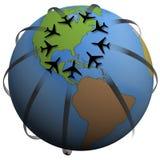 air east podróżuje przeznaczenia, Obraz Stock
