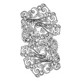 Air element black isolated on white Royalty Free Stock Photos