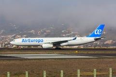 Air Europa Airbus A330 em Tenerife Fotos de Stock